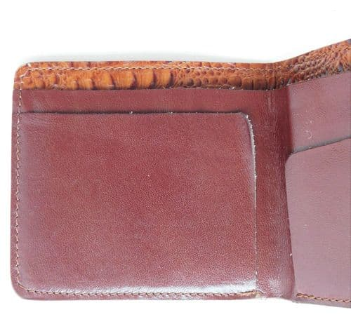 Leather wallet from Malaysia snakeskin pattern exterior good quality TDC logo